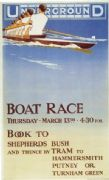 Vintage London underground poster - Boat Race!
